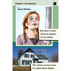 Anne of Green Gables emergent level 1 graphic novel