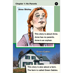 Anne of Green Gables emergent level 2 graphic novel