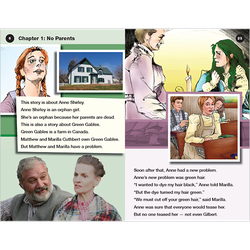 Anne of Green Gables transitional level 3 graphic novel booklet