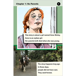 Anne of Green Gables transitional level 4 graphic novel