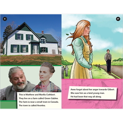 Anne of Green Gables transitional level 4 graphic novel booklet