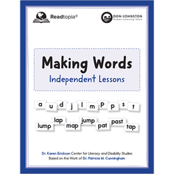 Independent Making Words phonics lessons book cover