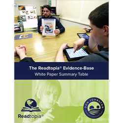 Readtopia evidence-base white paper summary table